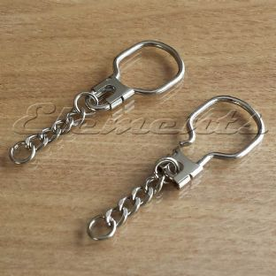 Nickel Plated Lockable Key Rings With Chain  BM095